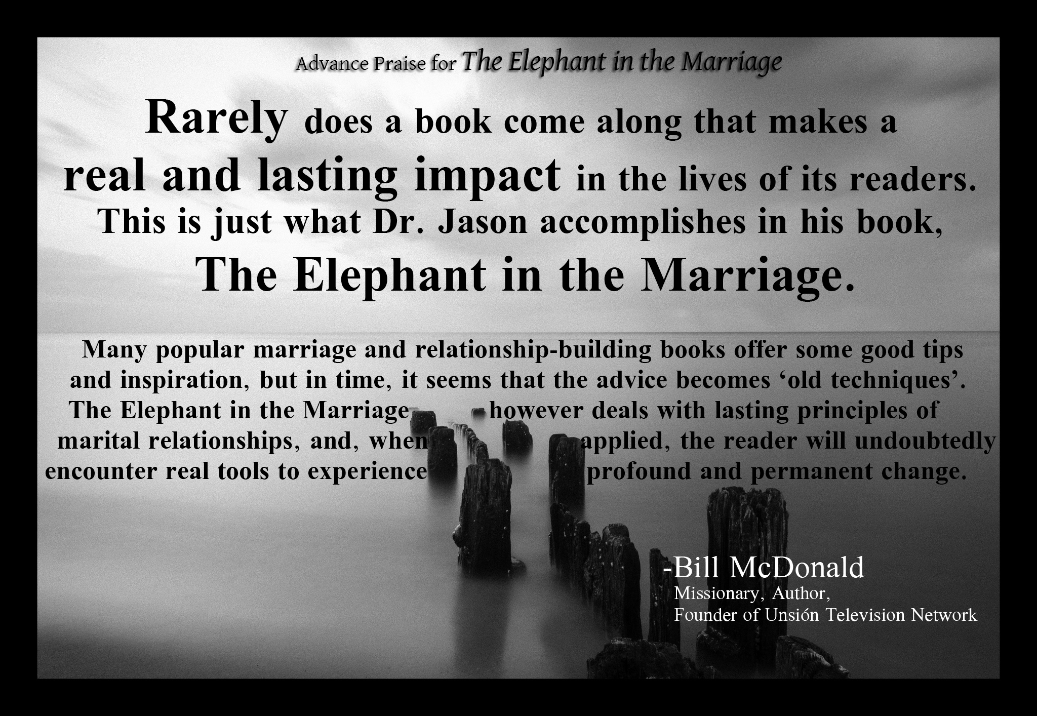 Advance Praise Bill McDonald