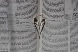 love bible ring shadow